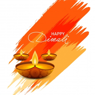 awesome diwali festival wishes with watercolor stroke and diya , Abstract, Light, Diwali Background image