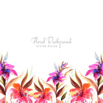 creative colorful flower with wedding card background , Abstract, Wedding, Invitation Background image