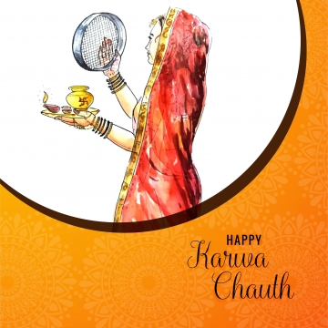 幸せなkarwa chauth祭カードデザインのベクトル , カルワ, 抄録, バックグロ 背景画像