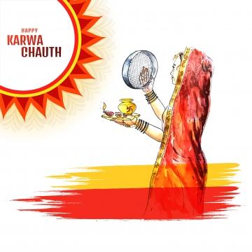 インドの女性を祝うkarwa chauth祭りの背景 , カルワ, 抄録, バックグロ 背景画像