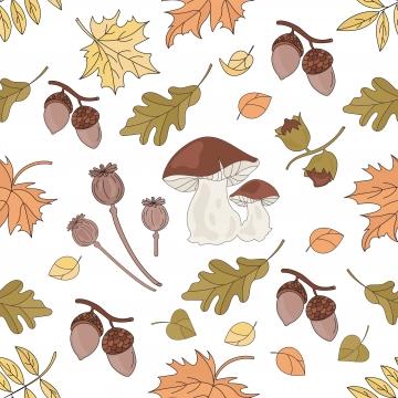 自然森林秋秋シーズンのシームレスパターン , 秋, 落下, 森 背景画像