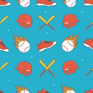 bóng chày liền mạch mô hình giày bóng chày mũ bảo hiểm và mô hình dơi , Phong Trào Bóng Chày., Phần Của Khối, Chế độ Ảnh nền