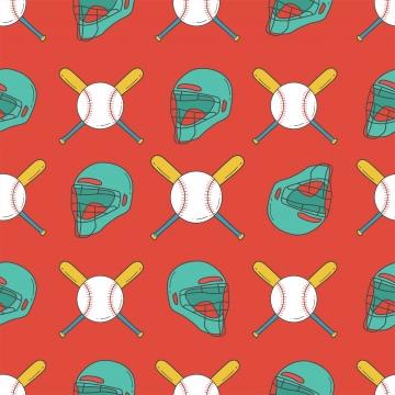 bóng chày liền mạch mô hình bắt mũ bảo hiểm bat và bóng mẫu , Phong Trào Bóng Chày., Phần Của Khối, Chế độ Ảnh nền