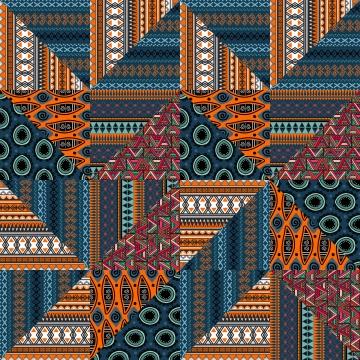 जनजातीय त्रिभुज धारियों के साथ जातीय निर्बाध पैटर्न वेक्टर चित्रण सार पृष्ठभूमि रंगीन फैशनेबल ड्राइंग , त्रिकोण, निर्बाध, ज्यामितीय पृष्ठभूमि छवि