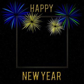 新年あけましておめでとうございます星空背景花火フレーム , 新年, 新年おめでとうございます, 祝い 背景画像
