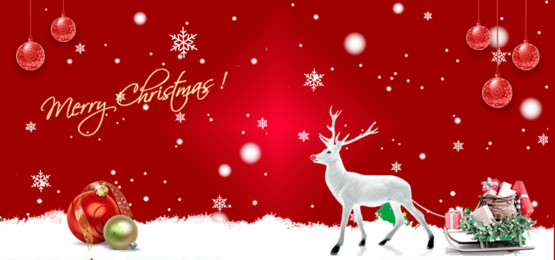 merry christmas with reindeer on red background, Happy New Year, Happy New Year Background, 2020 Background image