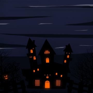 डरावना सिल्हूट पर डरावना रात , हेलोवीन, हेलोवीन पार्टी, चरित्र पृष्ठभूमि छवि