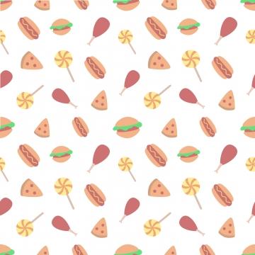 シームレスな世界のジャンクフードの日 , 食物, ベクター, イラスト 背景画像