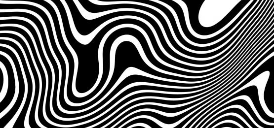 波状の抽象的な黒白い線背景, 波状, 抄録, 黒 背景画像