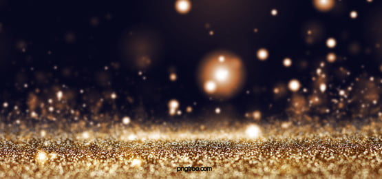 暗黑漂浮粒子背景, 金色系, 質感, 光圈 背景圖片