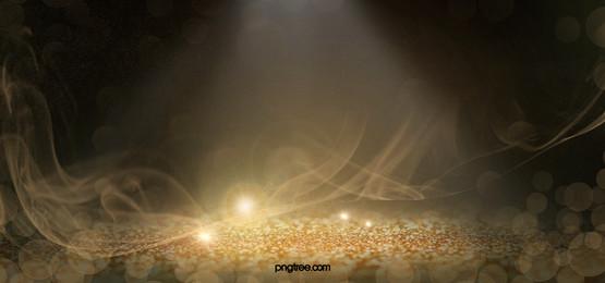 गोल्डन फैंटेसी पार्टिकल बैकग्राउंड, गोल्डन, कल्पना, पॉलिश पृष्ठभूमि छवि