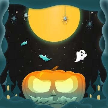 बड़े डरावने स्माइली कद्दू के साथ हेलोवीन फ्रेम , हेलोवीन, खुश हेलोवीन, हेलोवीन ग्राफिक पृष्ठभूमि छवि