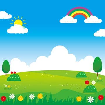 बच्चों की पृष्ठभूमि के लिए उपयुक्त मजेदार डिजाइन के साथ लैंडस्केप वेक्टर चित्रण , वेक्टर, परिदृश्य, पार्क पृष्ठभूमि छवि