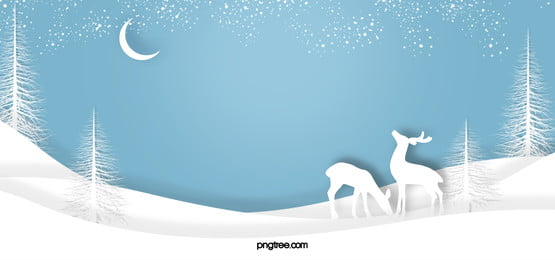 paper cut wind winter elk woods night snow snow background, Putih, Winter, Decoupage imej latar belakang