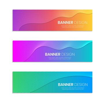 लहराती लाइनों के साथ वेब बैनर डिजाइन टेम्पलेट पृष्ठभूमि का सेट , सार, बैनर, व्यापार पृष्ठभूमि छवि