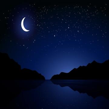 वर्धमान चाँद के साथ तारों वाली रात , तारों भरी रात, चंद्रमा, रात पृष्ठभूमि छवि