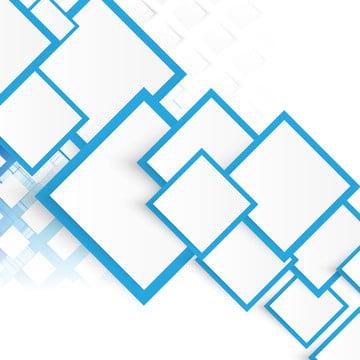 青い正方形のフレームを持つ白い幾何学的なチラシ , 背景, ベクター, ブルー 背景画像