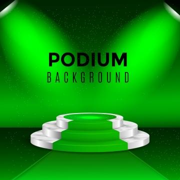 リアルなステージポディウムとエレガントなライトニンググリーン , ステージ, デザイン, 表彰台 背景画像