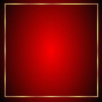 nền đỏ 3d với borderr vàng , Màu đỏ., Nền Màu đỏ, Png Nền Ảnh nền