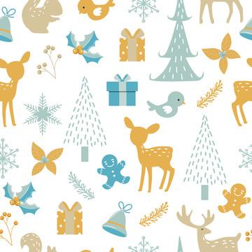 सजावट के लिए क्रिसमस सहज पैटर्न , पृष्ठभूमि, क्रिसमस, क्रिसमस पेड़ पृष्ठभूमि छवि