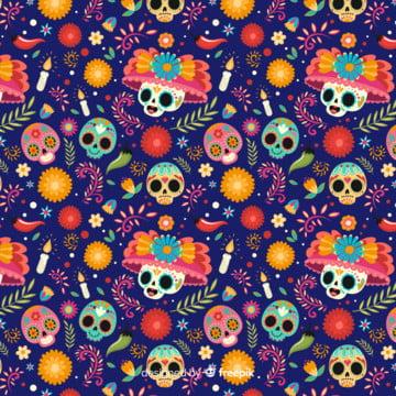 plantilla dia de muertos morado , Calaveras, Dia De Muertos, Festividades Imagem de fundo