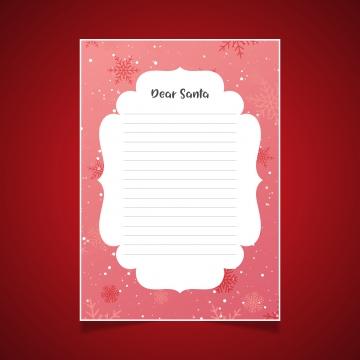 स्नोफ्लेक्स के साथ संता को क्रिसमस पत्र , क्रिसमस, वेक्टर, पृष्ठभूमि पृष्ठभूमि छवि