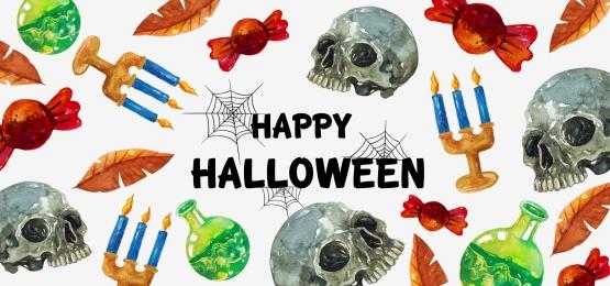mô hình halloween với nến và hộp sọ, Khủng Bố, Một Bóng Ma., Xác Chết Ảnh nền