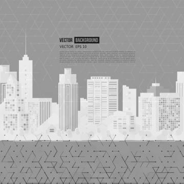 आधुनिक शहर सफेद सिल्हूट ग्रे बैनर , वेक्टर, सार, आधुनिक पृष्ठभूमि छवि