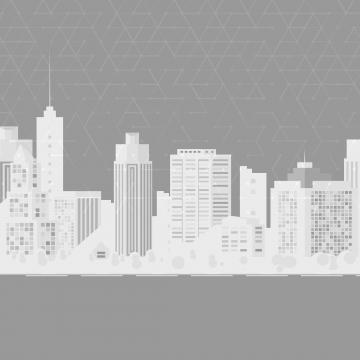 आधुनिक शहर सफेद सिल्हूट ग्रे फ्लायर , वेक्टर, सार, आधुनिक पृष्ठभूमि छवि