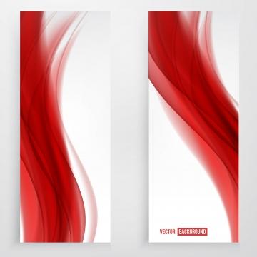 लाल नरम लहरों के साथ सफेद ऊर्ध्वाधर बैनर , लहर, लाल, सार पृष्ठभूमि छवि