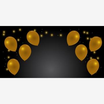 慶祝橫幅與金氣球和星星 , 耶誕節, 慶祝, 背景 背景圖片