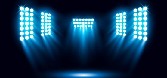 latar biru cahaya latar sorotan stadium latar belakang vektor, 3d, Abstrak, Seni imej latar belakang