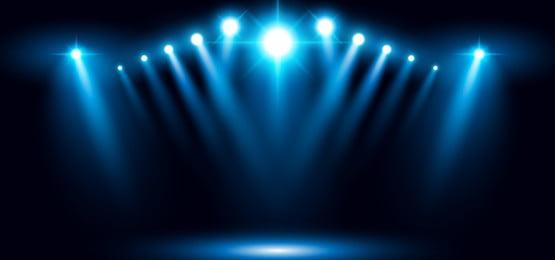 latar belakang biru pencahayaan stadium panggung arena stadium 3d vektor sorotan sorotan, 3d, Abstrak, Mengiklankan imej latar belakang