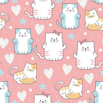 प्यारा बिल्लियों पस्टेल रंगों के साथ सहज पैटर्न , पैटर्न, सार, बच्चे पृष्ठभूमि छवि