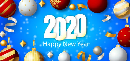 happy new year 2020 lettering festive with snowing blue background, Snowing Background, Merry Christmas Background, Happy New Year Background image