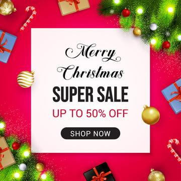 लाल पृष्ठभूमि वेक्टर पर मेरी क्रिसमस बिक्री बैनर , बिक्री, क्रिसमस, पृष्ठभूमि पृष्ठभूमि छवि