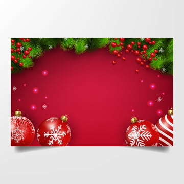 लाल क्रिसमस गेंदों के साथ लाल क्रिसमस पृष्ठभूमि और क्रिसमस डिजाइन वेक्टर चित्रण के लिए देवदार शाखाओं , पृष्ठभूमि, क्रिसमस, सर्दियों पृष्ठभूमि छवि
