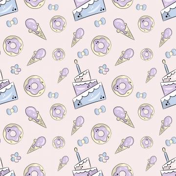 प्यारा केक के साथ वेक्टर पैटर्न , पैटर्न, वेक्टर, सुंदर पृष्ठभूमि छवि