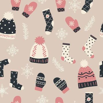 장식 완벽 한 패턴의 겨울 요소 , 귀엽다, 동물, 배경 배경 이미지