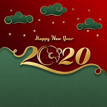 चीनी राशि चक्र पर हस्ताक्षर चूहा गोल्डन स्टाइल चूहा खुश चीनी नव वर्ष , बादल, गोल्डन रंग, कुंडली पृष्ठभूमि छवि