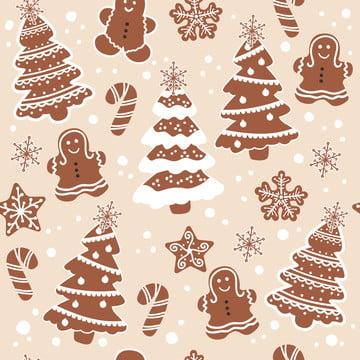 सजावट के लिए सहज पैटर्न में क्रिसमस कुकीज़ , आराध्य, पशु, पृष्ठभूमि पृष्ठभूमि छवि