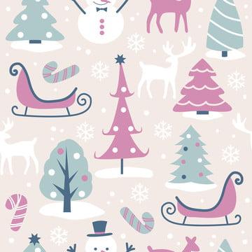 सजावट के लिए सहज पैटर्न में क्रिसमस का चित्रण , आराध्य, पशु, पृष्ठभूमि पृष्ठभूमि छवि