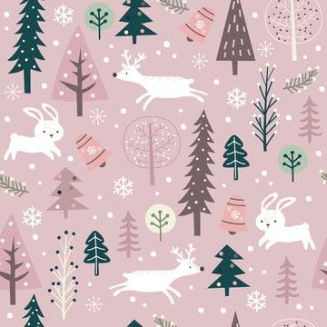 सर्दियों और क्रिसमस की सजावट के लिए प्यारा सर्दियों पैटर्न , आराध्य, पशु, पृष्ठभूमि पृष्ठभूमि छवि