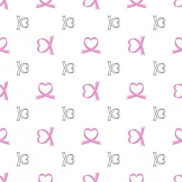 シームレスパターンがんの日 , 癌, ハート, リボン 背景画像