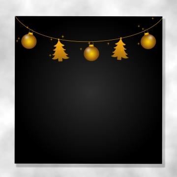 黑色聖誕節背景與黃金飾品和閃閃發光 , 耶誕節, 背景, 主題 背景圖片