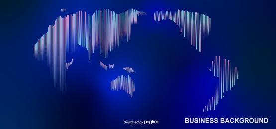 블루 라인 기술 스타일 세계지도 배경, 푸른색, 선, 과학 기술 배경 이미지
