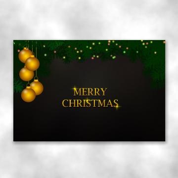 موضوع عيد الميلاد الداكن مع كرات زخرفة الذهب معلقة على فروع الصنوبر مزينة أضواء led , عيد الميلاد, الذهب, زخرفة صور الخلفية