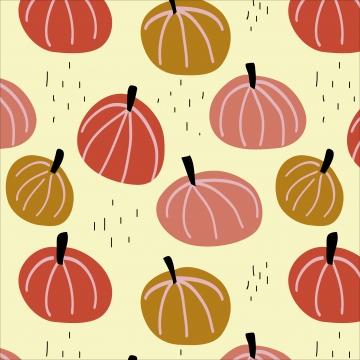 호박 원활한 패턴 , 컬러, 호박, 호박 배경 배경 이미지