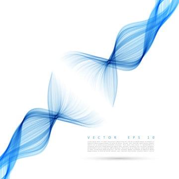 अमूर्त नीले धुएं की लहरों के साथ सफेद पोस्टर , सार, लहर, रंग पृष्ठभूमि छवि