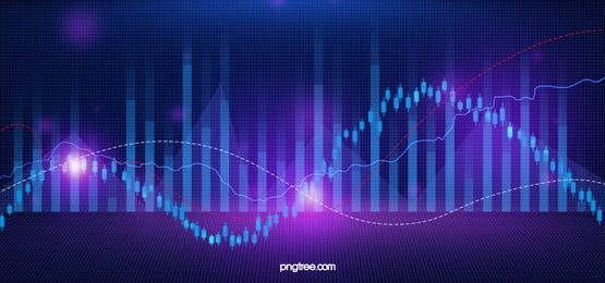 파란색 보라색 금융 주식 시장 배경, 주식 시장, 주식, 금융 배경 이미지